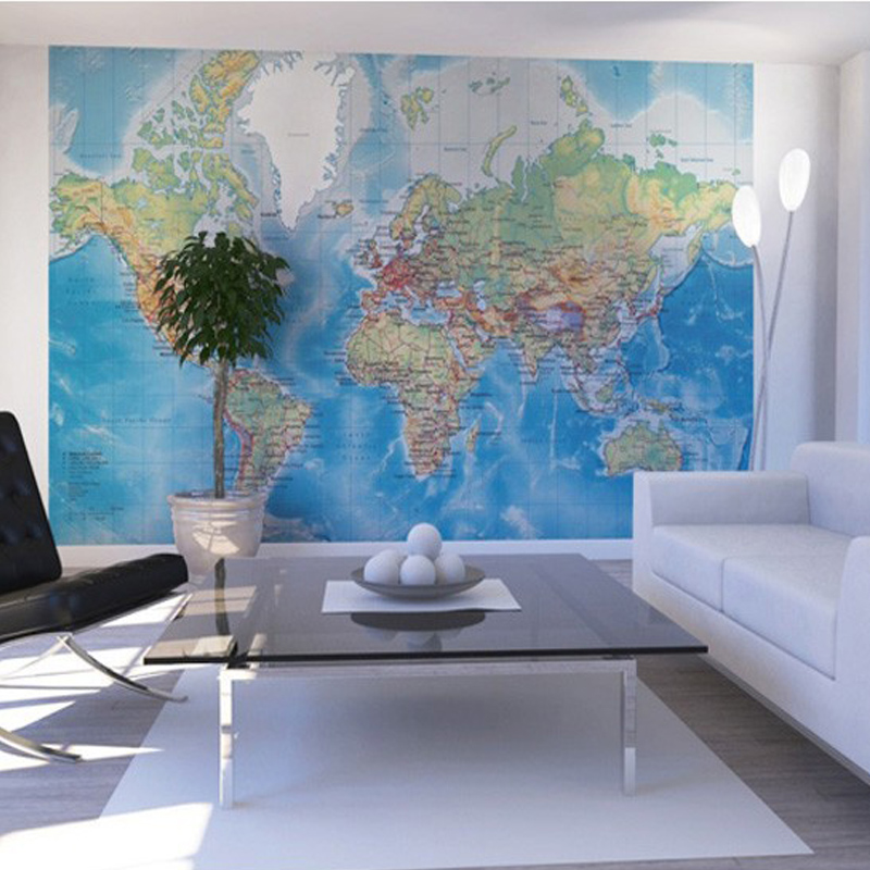 DIY Mural The world Map Of 3D Wallpaper Mural Porch Corridor The Living Room Wall TV Living Room Wallpaper Background map of fates