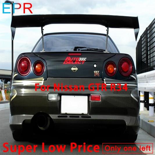 Pour Nissan R34 GTR Sélection Automatique de Carbone fibre GT Spoiler