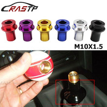 RASTP-Universal M10X1.5 Thread Shift Knob Boot Retainer Adapter Manual Gear Shifter For Honda Acura RS-SFN015