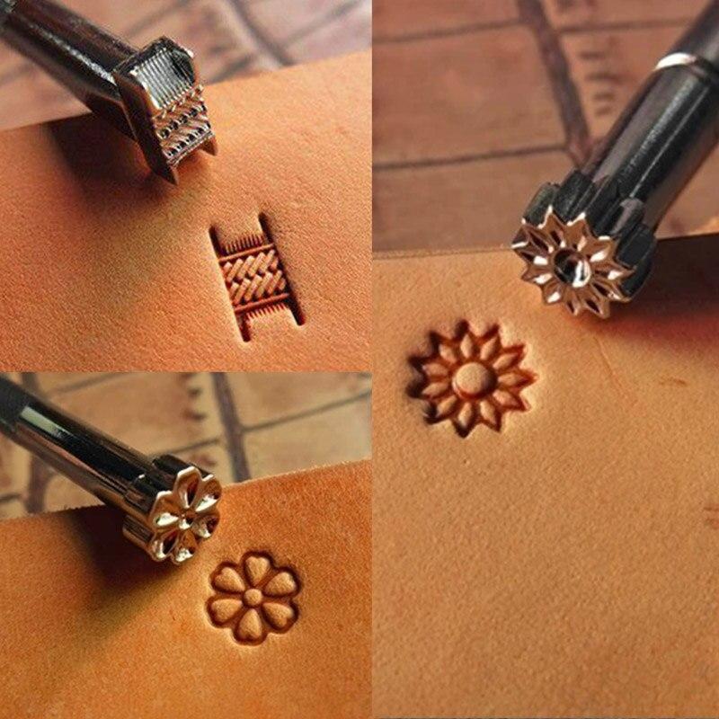 Saddle Making Tools DIY Stamping Leather Working Carving Printinting Staming