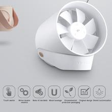 Original Xiaomi RG VH Portable Cooling Fan Mijia USB Mini Fan Smart Touch Ultra Quiet Air Cooler Summer Cooling Fan Rechargeable