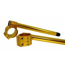BJMOTO 오토바이 유니버설 레이싱 CNC 50mm 51mm 52mm 53mm 54mm 클립 온 클립 온 포크 핸들 바 핸들 바