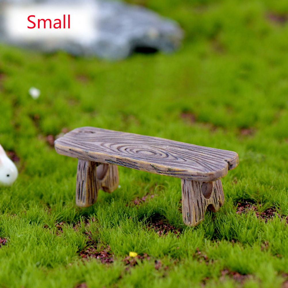 Micro Landscape Romantic Craft Resin Fairy DIY Mini Stool Ornaments Decor Miniature Dollhouse Garden