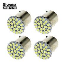 4pcs/Lot BA15S 1156 LED White Lights 22 smd led 12V Car Tail Rear Side Lamp Bulb