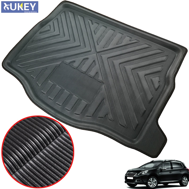 PROTECTIVE RUBBER BOOT MATS TO FIT Volvo V70 MODELS UNIVERSAL BOOT MAT