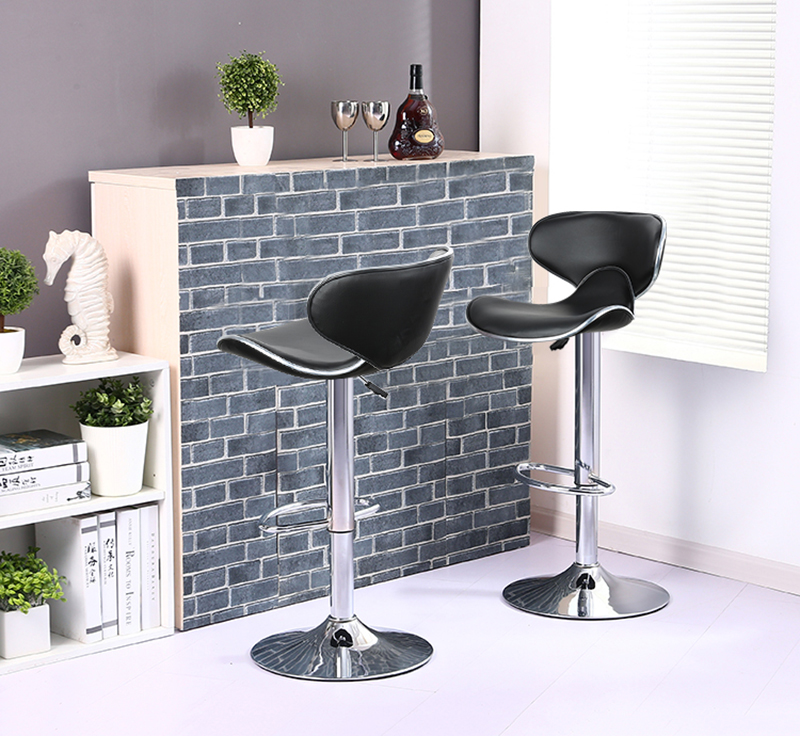 2pcs PU Leather Swivel Bar Stools Chairs Height Adjustable Swivel Modern Style Kitchen Counter Pub Chair Barstools 5 Colors HWC free shipping u best kitchen & dining furniture wooden barstool with a foot rest counter bar stools and counter chairs