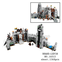 Lepin 16013 New 1368Pcs The Lord Of The Rings Series The Battle Of Helm Deep Model