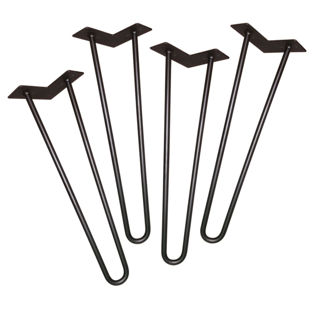 Black 610MM Metal Funiture Legs,Set of 4,2 rod 3/8 Solid Iron,Mid-Century Modern Style Hairpin Leg For Coffee Table люстра reccagni angelo l 7002 5