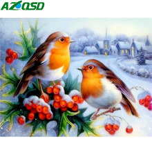 AZQSD Full Drill Diamond Painting Birds 5d Diy Handmade Home Decor Diamond Mosaic Animal Cross Stitch Picture Of Rhinestones цена