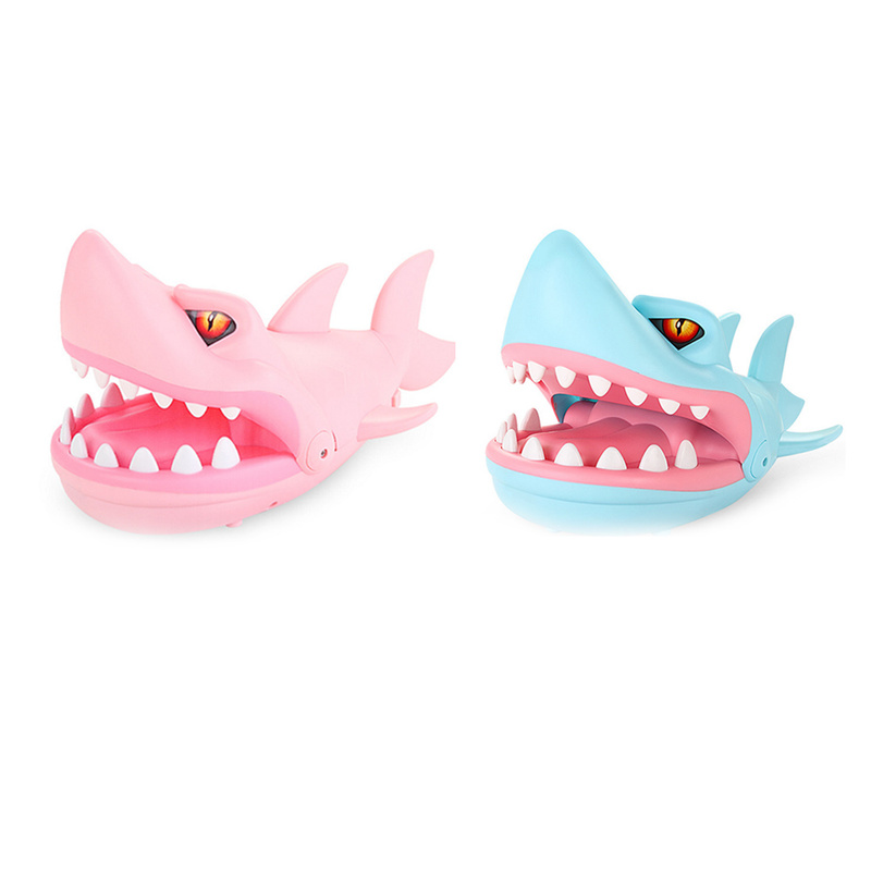 Game Fun Kids Gifts Biting Finger Shark Dentist Toys For Children Adults Funny Game Bit Hand Toy Big Mouth Teeth Shark Dental image