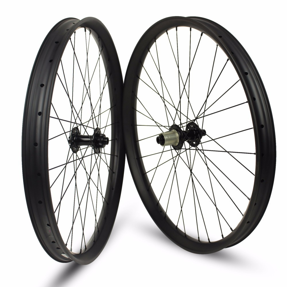 цены 26er XC/AM/Enduro/DH MTB Carbon Wheels Tubeless Rims 24/35/40mm Width For 26 Inch Mountain Bike Bicycle Wheelset
