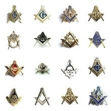 Masonic Lapel PIN ความสามัคคีสแควร์และเข็มทิศ Mason Lapel PIN Badge กับผีเสื้อสัญลักษณ์ของขวัญ Freemason