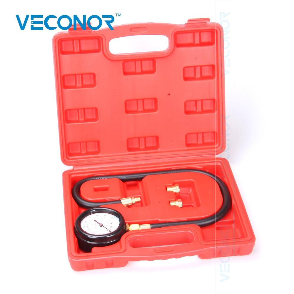 VECONOR TU-12 Engine Oil Pressure Tester Pressure Gauge Test Tool Kit Auto Car Pressure Tester Autom