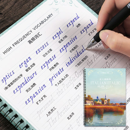 3 Book English Letter Word Sentence Copybook Handwriting Groove Training Copy English Alphabet Words Auto Fades Can Be Reused