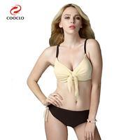 Plus Size Bikinis Contrast Color Sexy Women Swimwear Large Size Beachwear Russia Bathing Suits Push Up