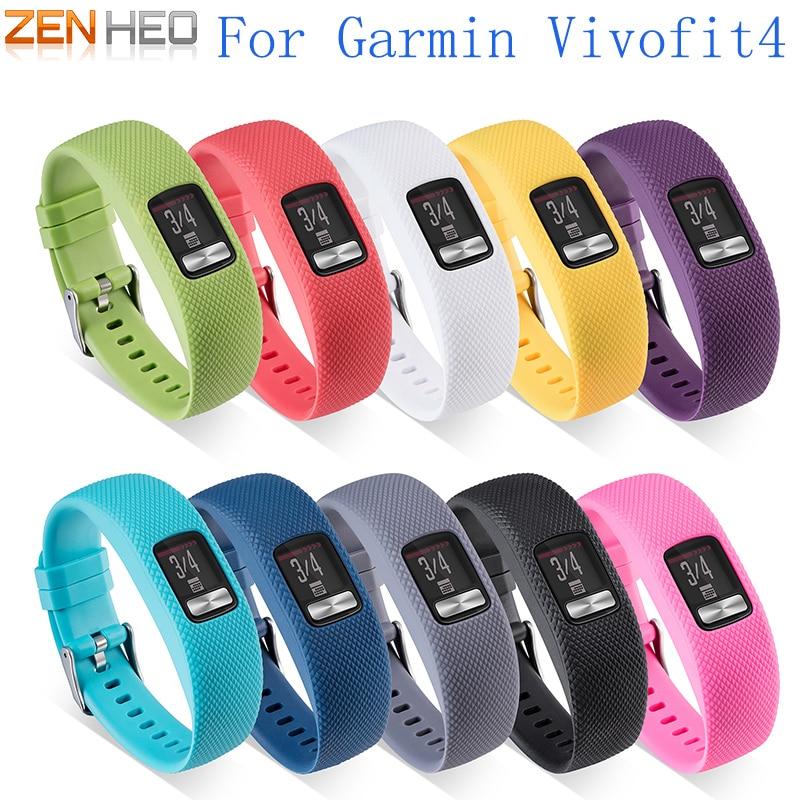 New S/L Plaid Textured Strap Silicone Replacement Wristband for Garmin vivofit 4 Smart Bracelet Wrist Watch Accessories