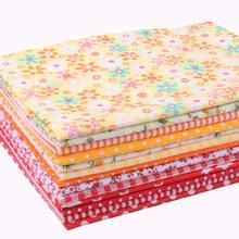 Nanchuang желтая и Красная тонкая хлопковая ткань для шитья, Лоскутная Ткань для скрапбукинга, стеганое одеяло с рисунком для Рукоделия 25x25 м, 14 ш...
