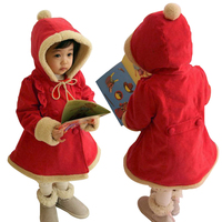 New Red Baby Girls Jacket Spring Winter Clothes Outerwear Coat Cotton Thick Kids Snowsuit Clothes Children