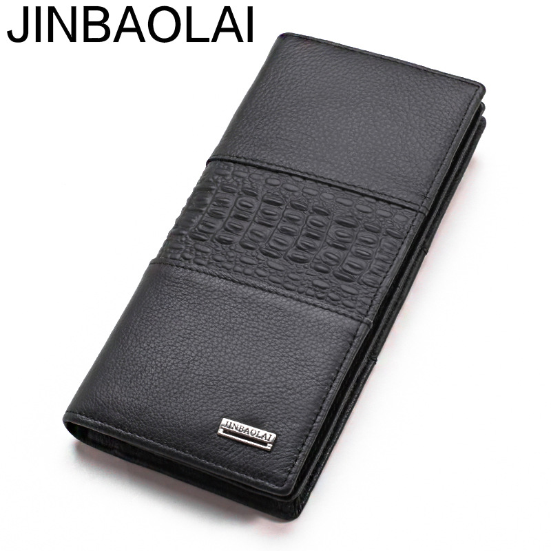 Luxury Long Fashion Genuine Leather Men Wallet Male Purse Clutch Handy Perse Phone Walet Cuzdan Vallet For Money Bag Card Holder