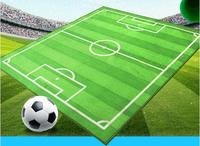 43*51 Designer Cartoon Soccer Playing Field Kids Rug Modern Football Pitch Carpet for Living Room Bedroom Fashion Mat Play Pad