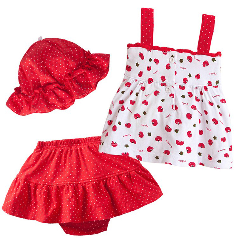2019 New Summer Baby Girl Clothes Set Children Cotton T shirt Tutu pants hat 3PCS Kid Infant Newborn Clothing Set For 0 2 years in Clothing Sets from Mother Kids