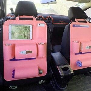 Image 3 - Multi Pocket Car Seat Back Organizer Wool Felt Storage Container Hanging Box Multifunction Vehicle Storage Bag Car styling