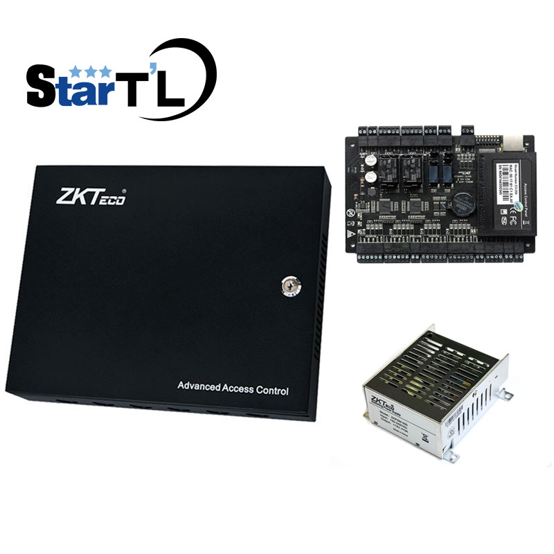 zkTcp/ip C3-200 two door access control panel door access control system control board +uninterrupted battery function Power c3 100 single door high quality access control system one door two way access control panel 1 pc rfid reader 1 pc exit button