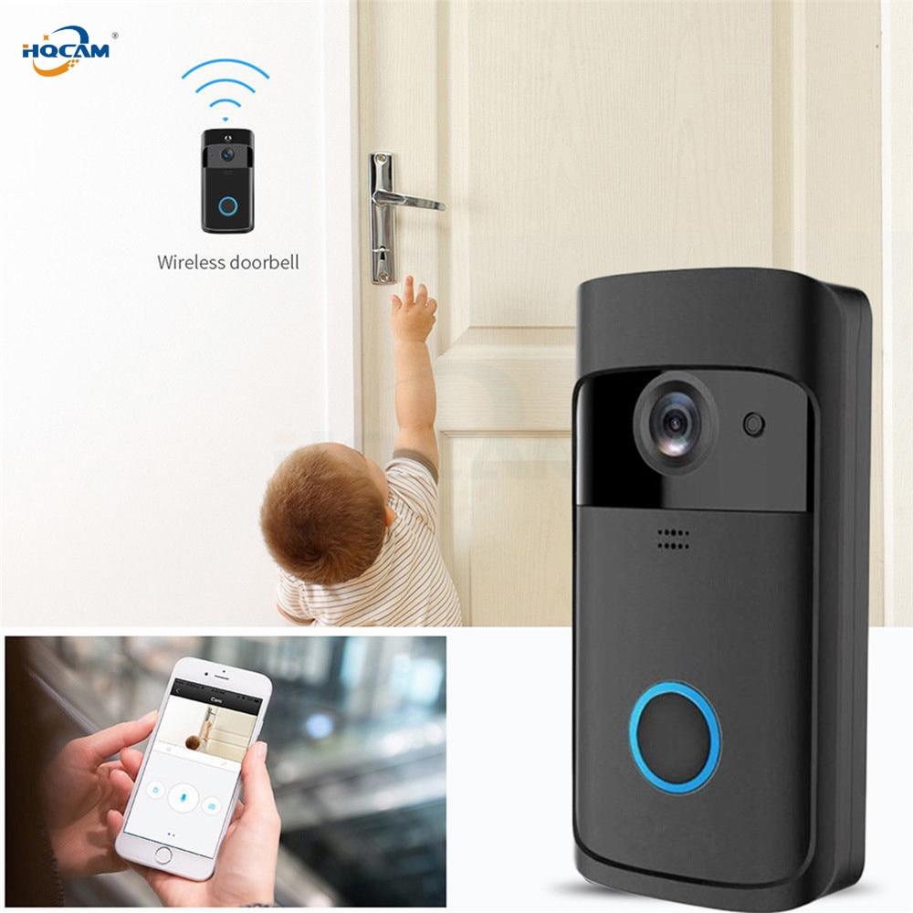 HQCAM Smart IP interphone vidéo WI-FI vidéo porte téléphone sonnette WIFI sonnette caméra pour appartements IR alarme sans fil sécurité Ca