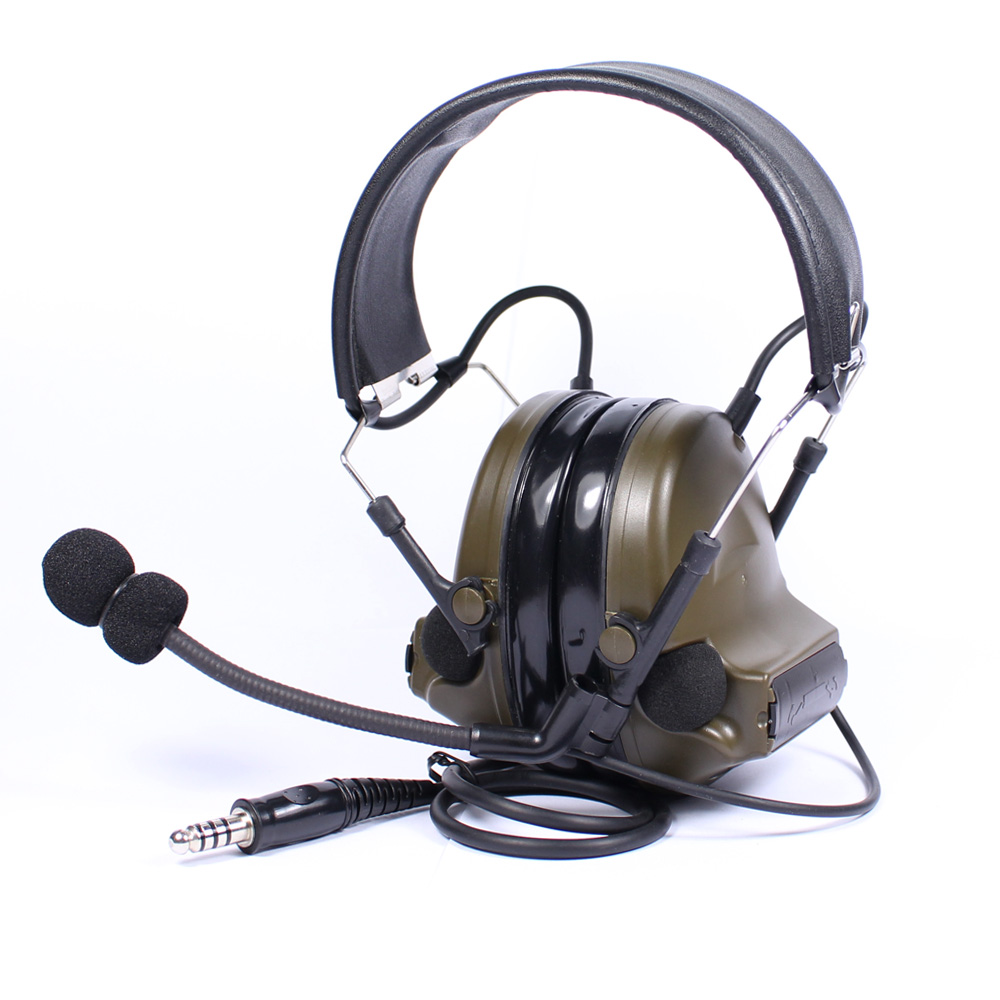 Tactical Headset Chip Denoising Adapterization Headset III Airsoft Hunting Comtac Headphone Noise Canceling Military Earphone new z tac comtac iii headset c3 dual channel pickup noise reduction headset airsoft hunting earphone