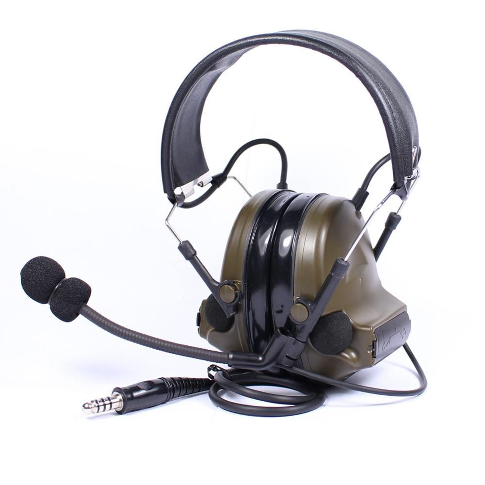 все цены на Tactical Headset Chip Denoising Adapterization Headset III Airsoft Hunting Comtac Headphone Noise Canceling Military Earphone онлайн