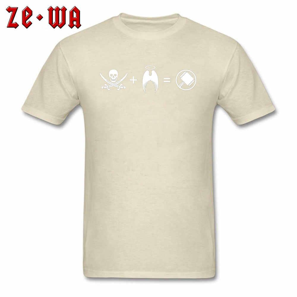 חולצה Thor Odinson Tshirt גברים קומיקס T חולצות מצחיק פיראטים היה תינוק עם מלאך גיבור חולצות אמריקה Tees כותנה