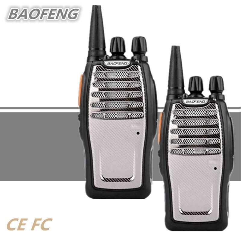 2 pcs BAOFENG BF-A5 Talkie Walkie UHF 5 w PTT Ham CB Radio Talki Walki 1800 mah Mobile Émetteur-Récepteur Mise À Jour BF-888S Chasse Radio