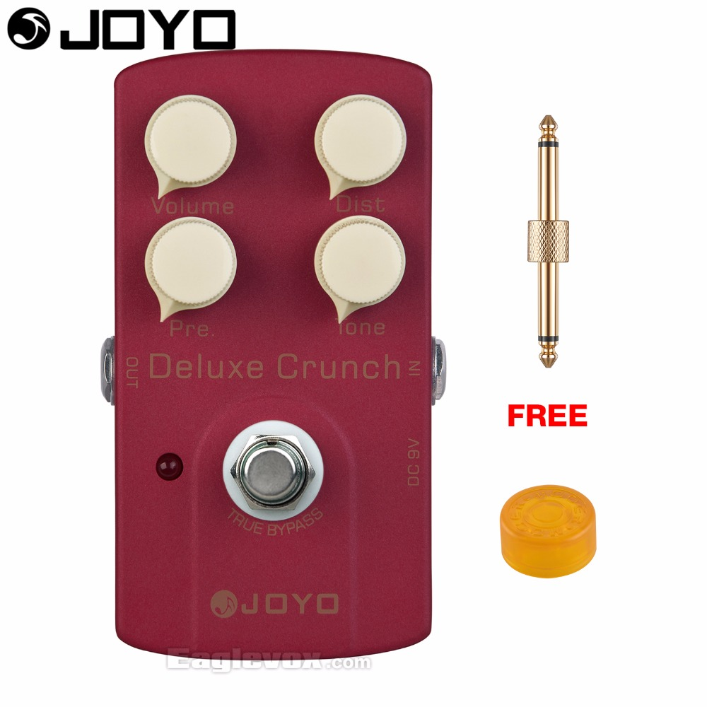 JOYO JF-39 Deluxe Crunch Electric Guitar Effect Pedal True Bypass with Free Connector and Footswitch Topper mooer ensemble queen bass chorus effect pedal mini guitar effects true bypass with free connector and footswitch topper