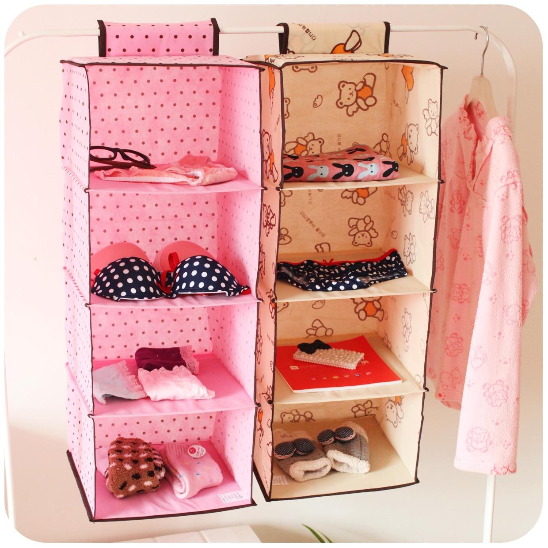 Free shipping fresh at home non woven fabric wardrobe storage bag cute wall hanging storage bag