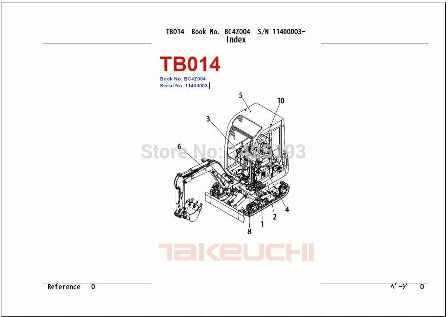 takeuchi excavator parts catalog manual tb2200 pdf