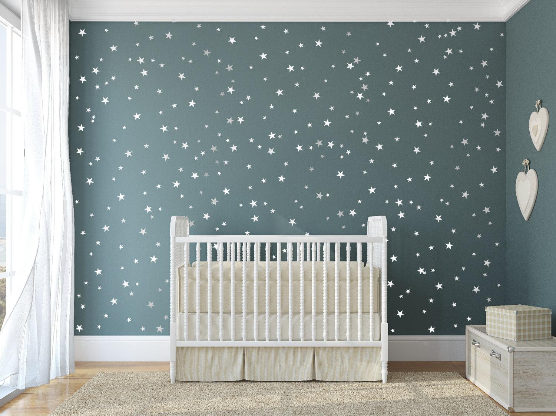 Kids Wall Sticker Stars Baby Nursery Bedroom For Room Children Decals Art Wallpaper Home Decoration Jj003