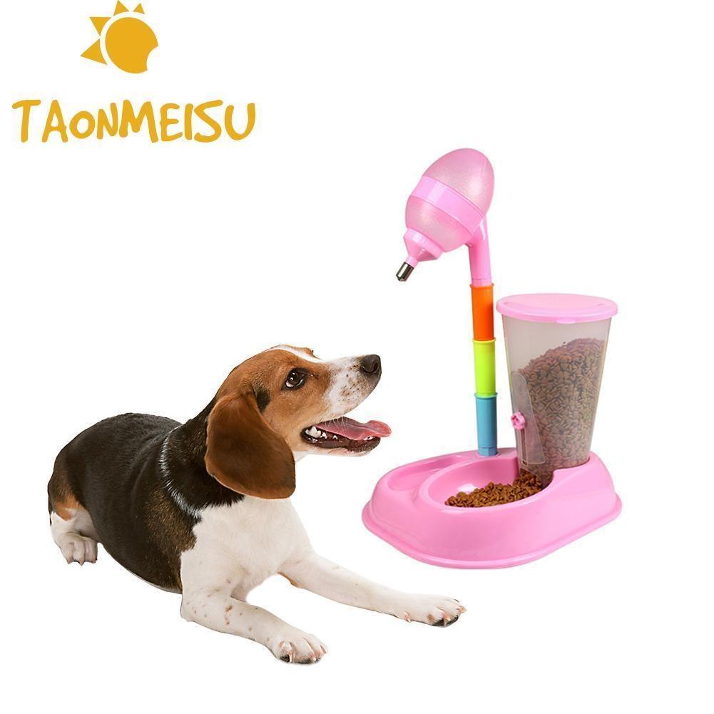 Pet Automatico Alimentatore Del Cane Teddy Bevitore Potabile Ciotola Alta Bollitore Verticale Distributore di Acqua Gatto Rimovibile per viaggiare all'aperto