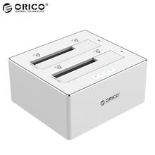 ORICO 6828US3-C-V1 2.5/3.5 cal SATA USB 3.0 Dysk Twardy Case Two-bay Obudowa DYSKU TWARDEGO na Pulpicie