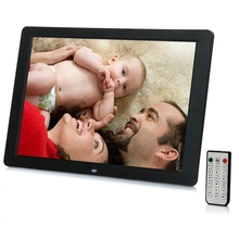 Cheaper 12 Inch TFT Screen LED Backlight 16:9 HD 1280*800 Digital Photo Frame Electronic Album Photo Music Mp3 Video Movie Free shipping