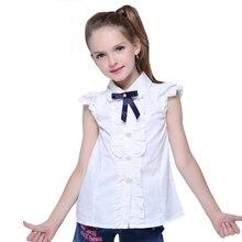 2014 spring/summer girl short-sleeve white shirt student slim waist blouse A0773