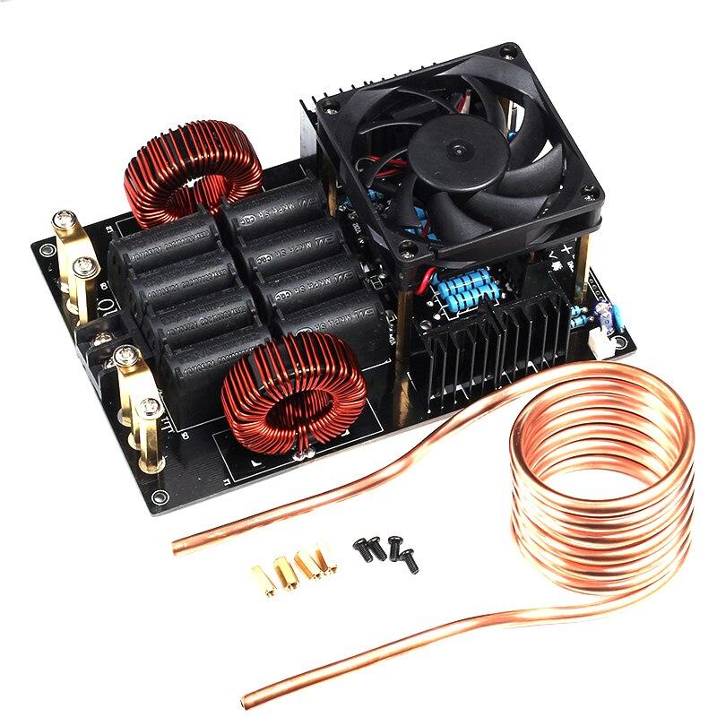 DC 12-40 В 50A 1KW высокое Напряжение генератор высокой частоты низкая Напряжение звс индукционный нагреватель 1000 Вт доска с катушкой для расплав...