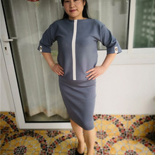 8acecf12995 MAXDIROO 2 Piece Set Women Autumn Sweat Suit Half Sleeve Pullover Top  Pencil Skirt