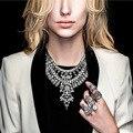 2016 Nueva moda Declaración collar babero venta al por mayor caliente de la Joyería traje de las mujeres gargantilla Collar pendiente de La Vendimia Bijoux