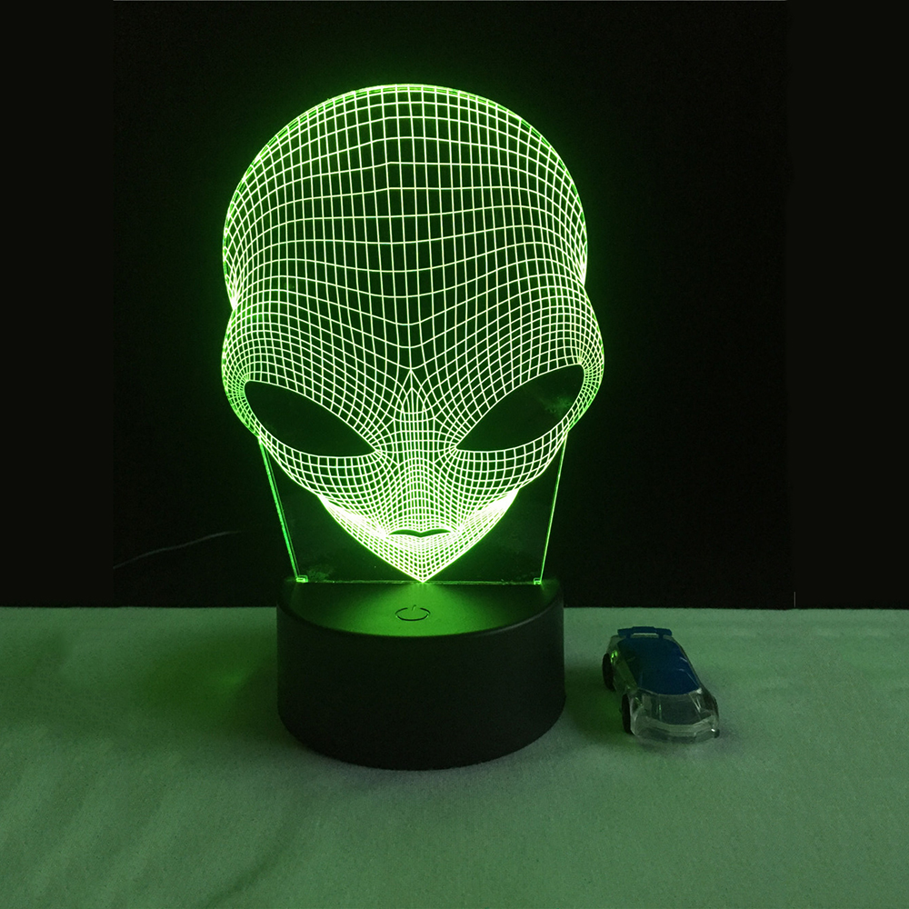 Unique 3D Cartoon Special Alien Shape LED Table Lamp with USB Power Touch night light gift
