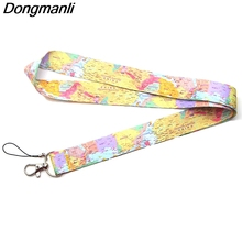 P3802 Dongmanli World Map Lanyard Badge ID Lanyards/ Mobile Phone Rope/ Key Neck Straps Keychain