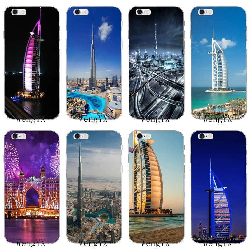 R$ 8 92 |Dubai City Architectural landscape Slim silicone Soft phone case  For LG G2 G3 mini spirit G4 G5 G6 K7 K8 K10 2017 V10 V20 V30-in