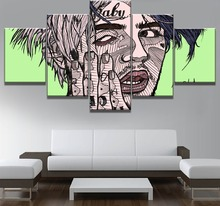 Modular 5 Piece Canvas Art Lil Peep Poster Modern Decorative Paintings on Wall for Home Decorations Decor