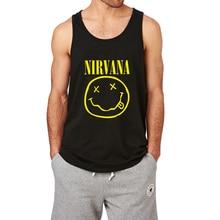 Loo Zeigen Nirvana Smiley Lächeln Workout Tank Top Männer