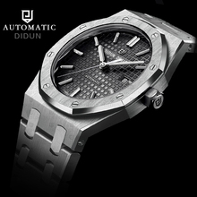 Fashion Luxury Brand DIDUN Automatic Mechanical Watches Men Military steel Wristwatch clock men waterproof