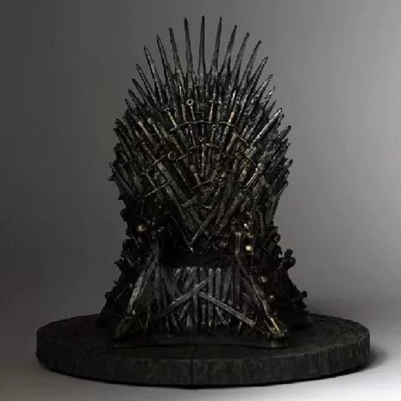 Game of Thrones Throne PVC Action Figure Toy Hot Movie A Song of Ice and Fire Collection Display Doll Birthday Brinquedos Gift 17cm the iron throne game of thrones a song of ice and fire action figure toys sword chair model toys chirstmas gift
